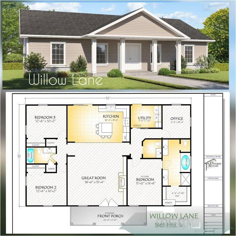 Jun 12 2020 The Willow Lane House Plan Gable Roof Option Etsy Dreamhouse Traumhausplanemodern Maisonderevechambr In 2020 House Plans Metal House Plans Hip Roof