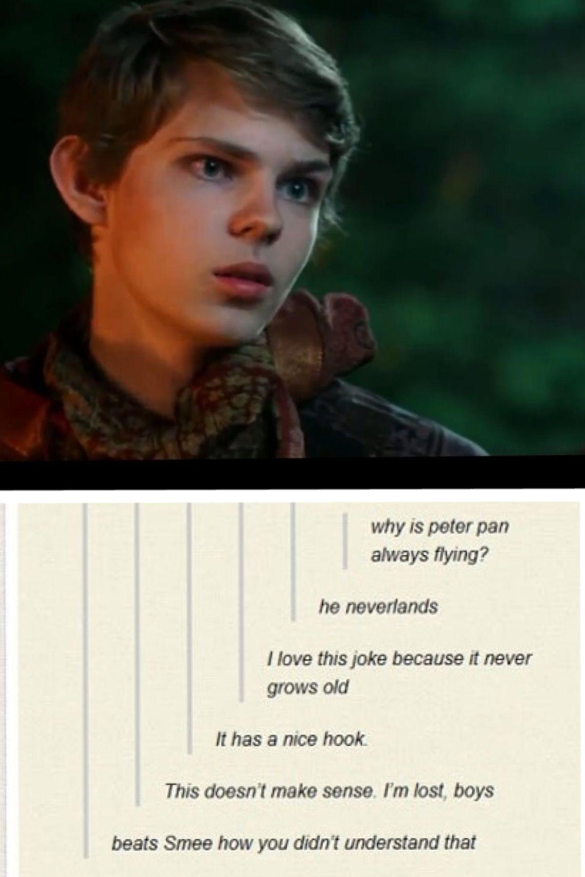 Once upon a time Peter pan jokes