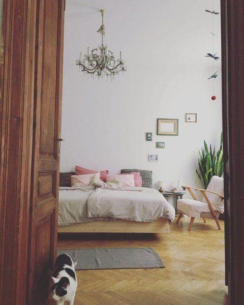 Farbinspiration der Woche 8 Ideen fürs Wohnen mit Rosa-Schwarz in - schlafzimmer einrichten rosa