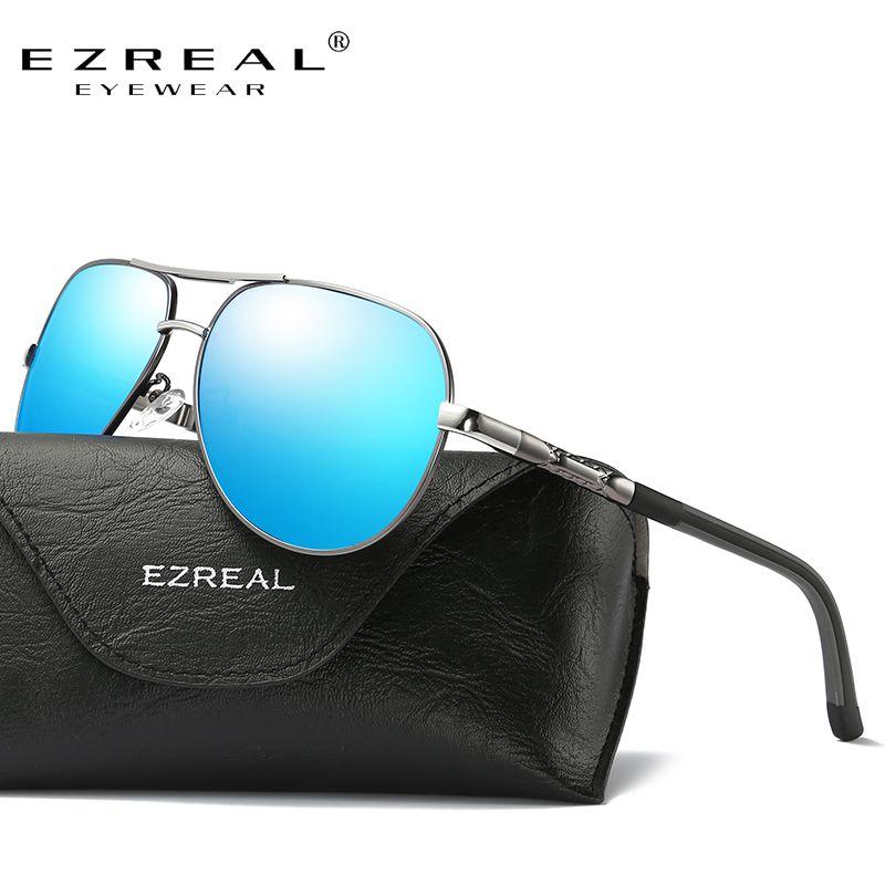 8ad581f3bccf7 Encontre mais Óculos de sol Informações sobre EZREAL Unisex Alumínio Retro  Marca Óculos Acessórios Óculos de Lente Polarizada Óculos De Sol Do Vintage  ...