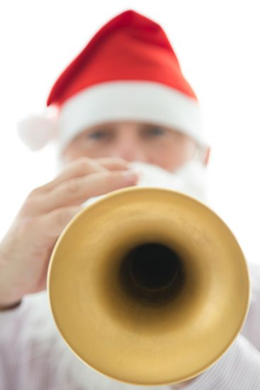 Is it right to have so much fun taking photographs?  Here is Father Christmas displaying his #trumpet talents, or is it Andrew Jones of #MusicForYou?