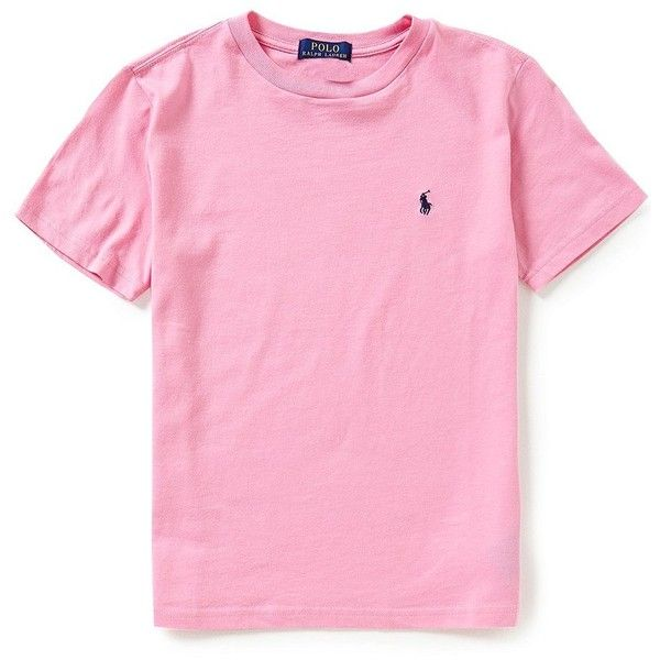 82b1b946e Ralph Lauren Childrenswear Big Boys 8-20 Short-Sleeve Crewneck Tee ($15) ❤  liked on Polyvore featuring shirts