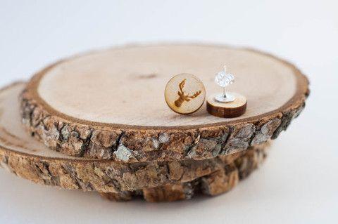 Outdoorsy Mother's Day Gift ideas! Earrings - Deer Stud