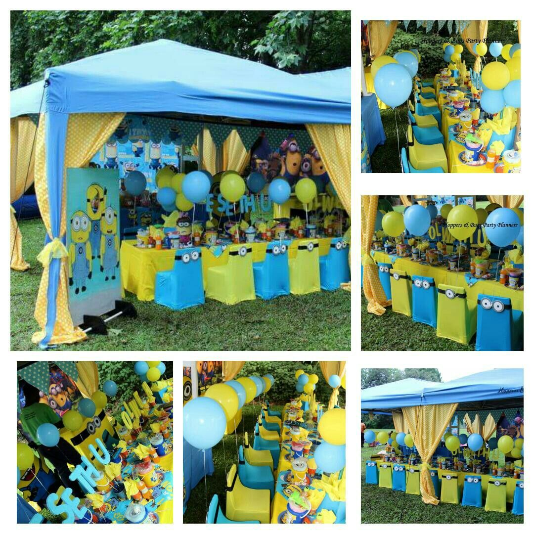 Minion Themed Party Styled And Setup By Hoppers And Bugs