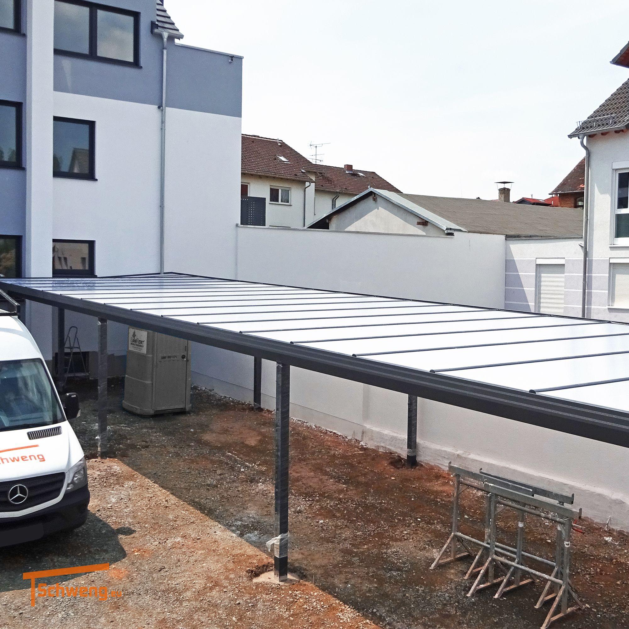 Schweng Carport aus Aluminium für Mehrfamilienhäuser Eine