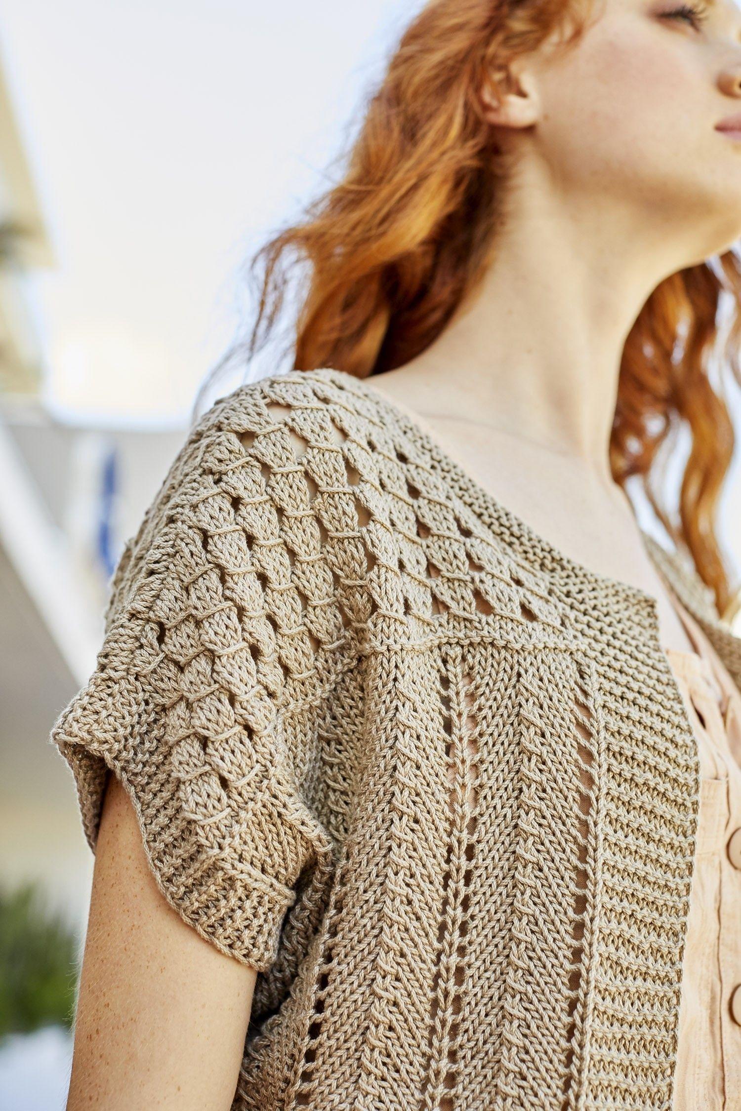 Free Knitting Pattern for a Malibu Bolero | Knit top ...