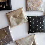 metallic gift card holders