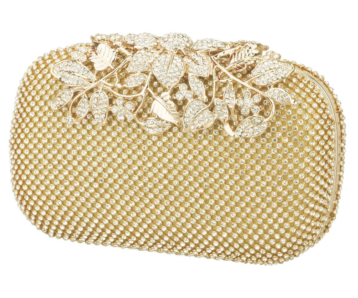 7d6401571c2 Charming Tailor Evening Bag for Women Chic Bling Floral Rhinestones Party Clutch  Gold *** Click image to review more details.(It is Amazon affiliate link) #  ...