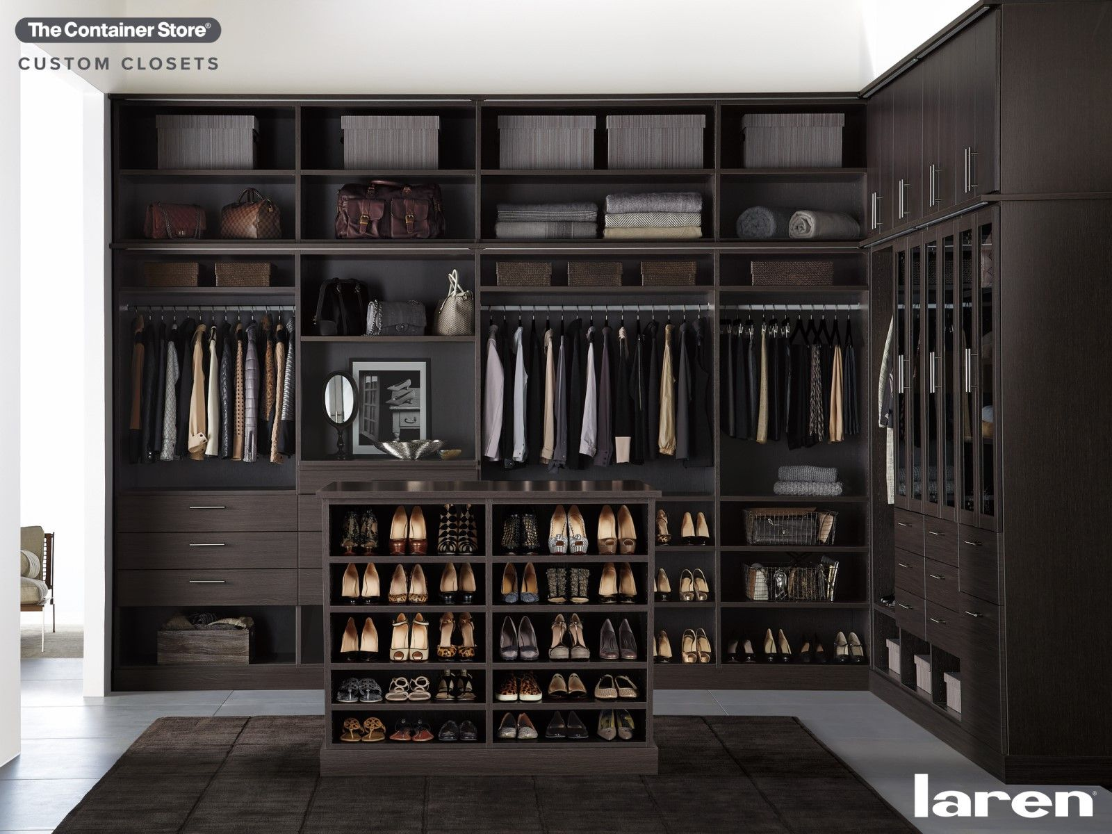 Let Us Install The Luxury Custom Closet Of Your Dreams Contact Us Today For A Free Custom Laren D Custom Closets Custom Closet Shelving Closet Shelving System