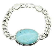 Turquoise 925 Sterling Silver gorgeous supply Bracelet gift UK