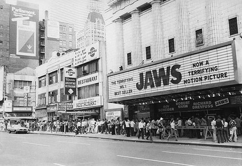 Image result for jaws movie theater