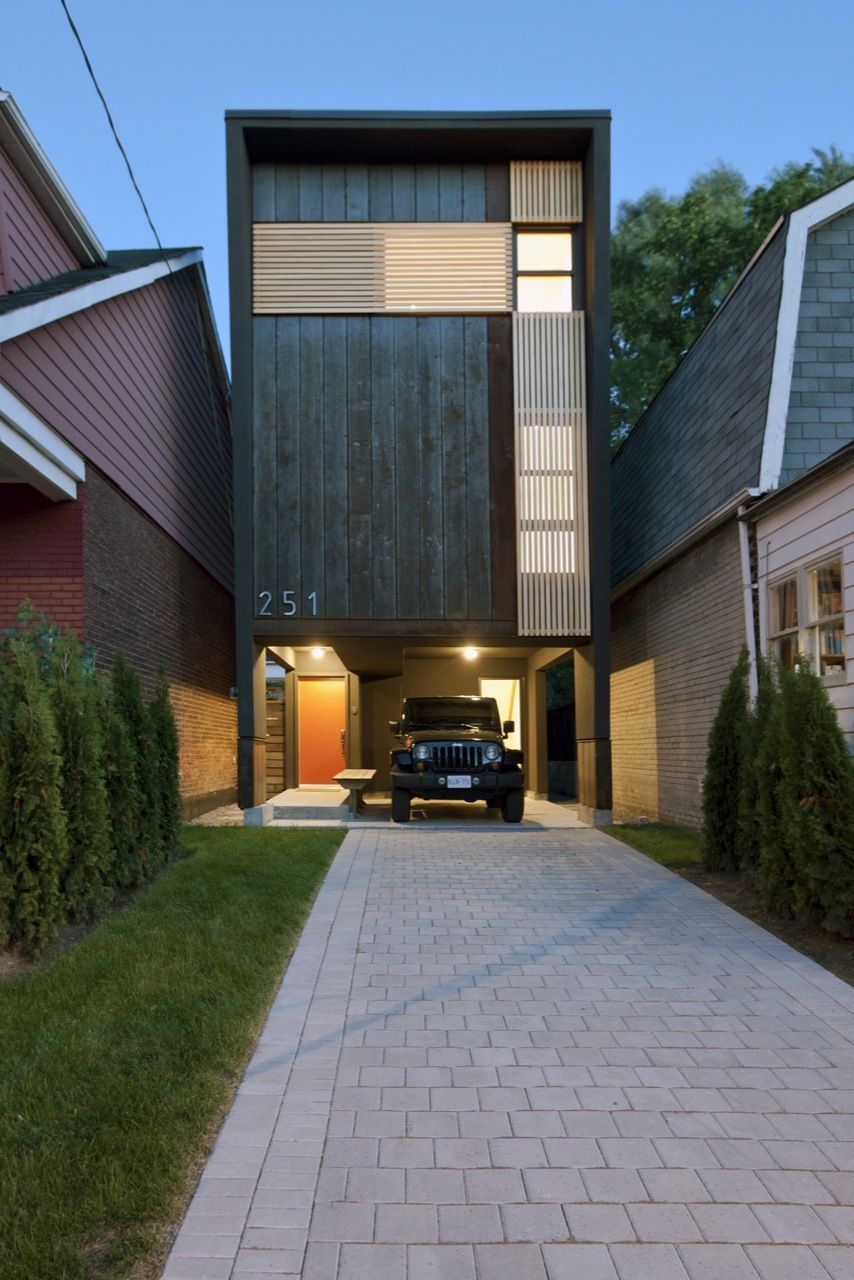 11 Spectacular Narrow Houses And Their Ingenious Design Solutions Small Modern Home Tiny House Design Architecture Design