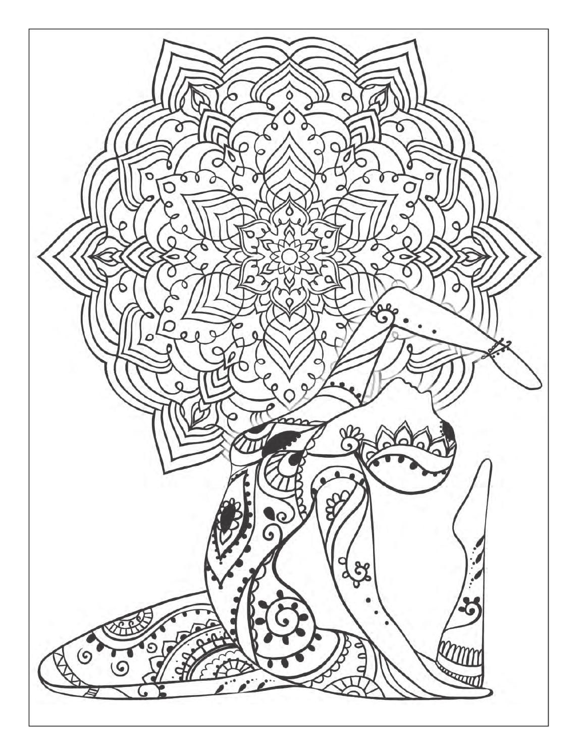 Yoga coloring pages for adults yoga best free coloring pages for Yoga coloring pages