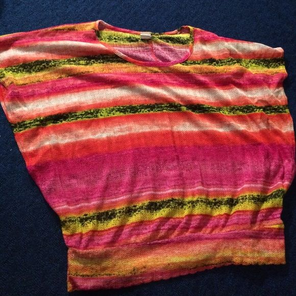 Cute multicolored top Really cute, comfy top by Vous Couture Vous Couture Tops Blouses
