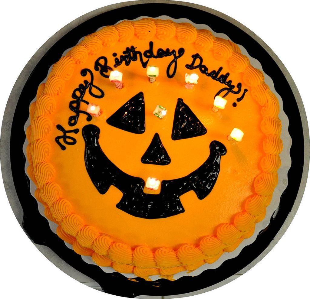 Hubby's birthday cake. How fun to be born on Halloween! Blogged