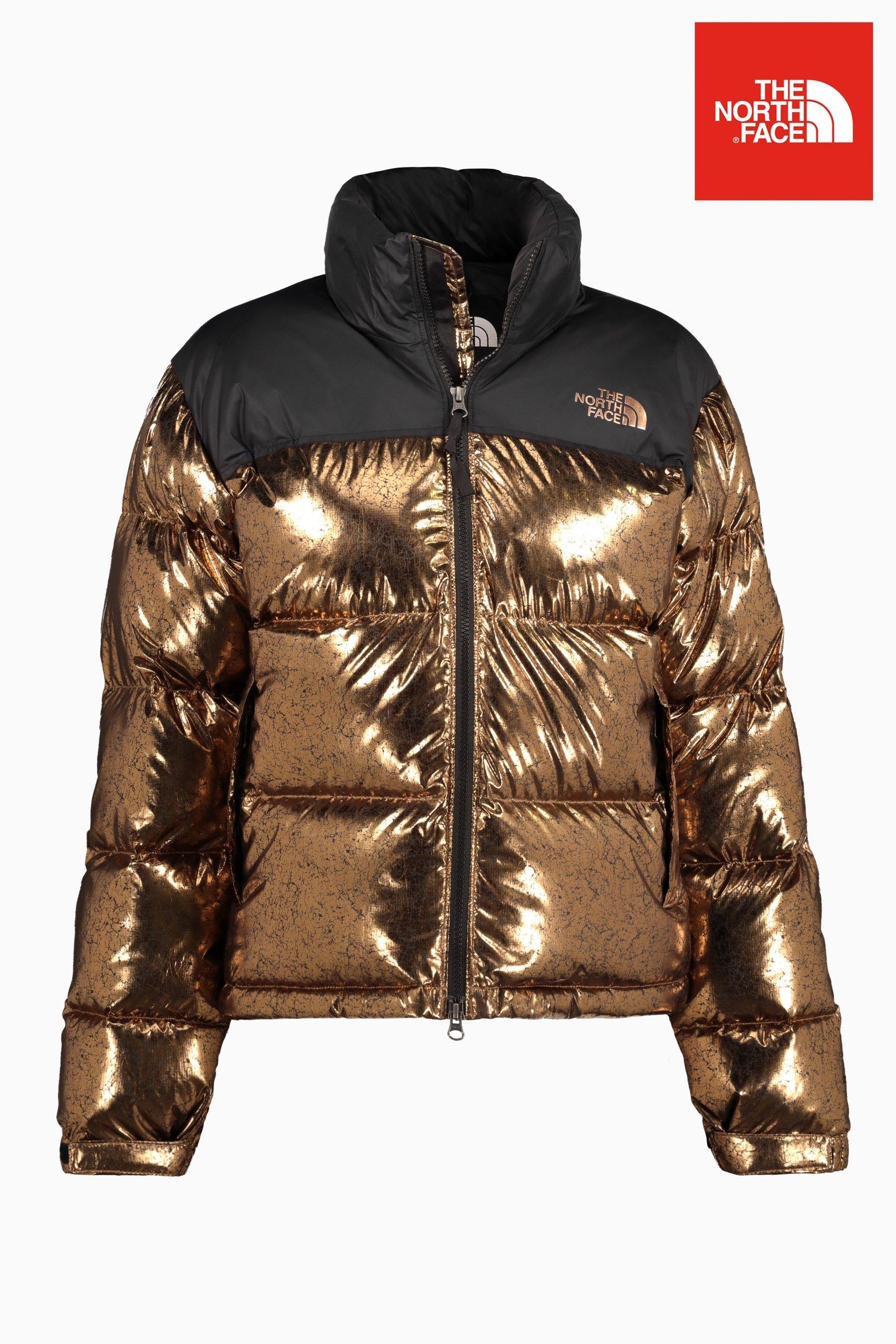 Womens The North Face 1996 Retro Nuptse Jacket - Gold  f48716a8875b