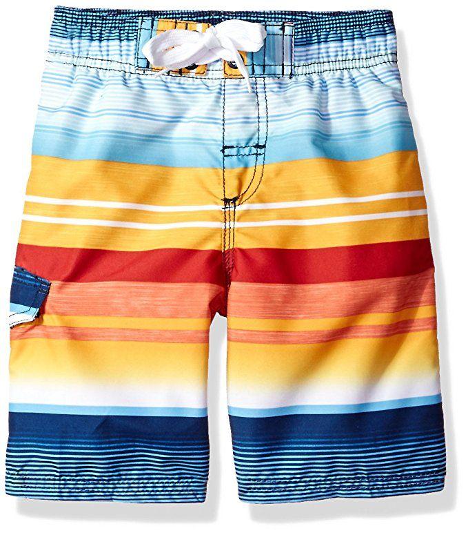655821b5da Amazon.com: Kanu Surf Boys' Victor Stripe Quick Dry Beach Board Shorts Swim