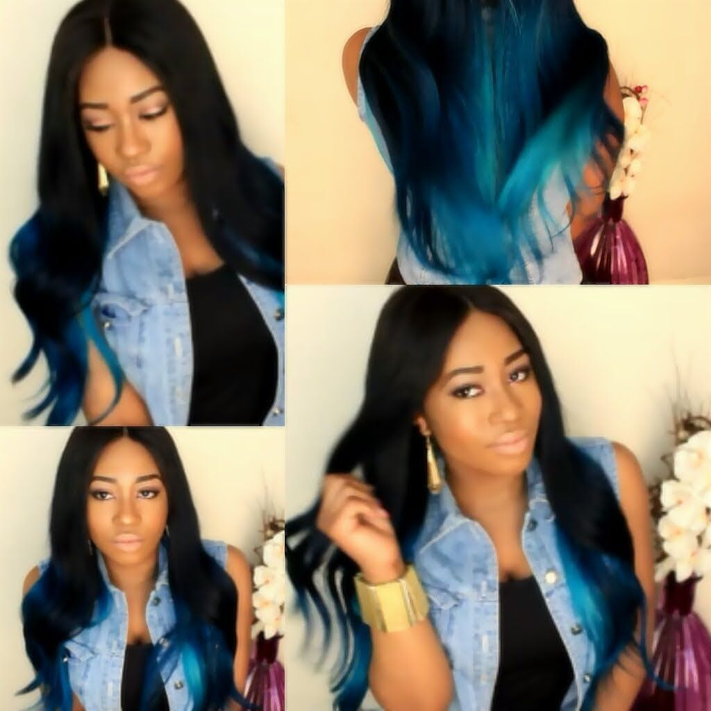 Black Girls With Blue Ombre Hair Aquamarine Hair Dye Hair Your Ideas Blue Ombre Hair Ombre Hair Ombre Hair Tutorial