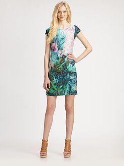 ABS Jungle Print Dress
