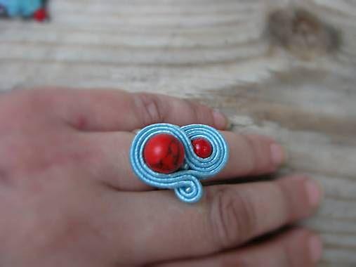 Ridgways / Red Coral...soutache - prsteň na želanie