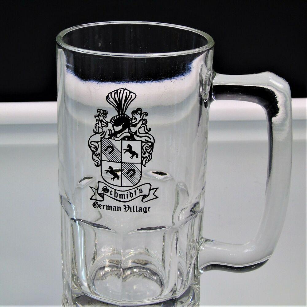 Schmidt S Glass Beer Mug Stein German Village Columbus Oh Schmidt