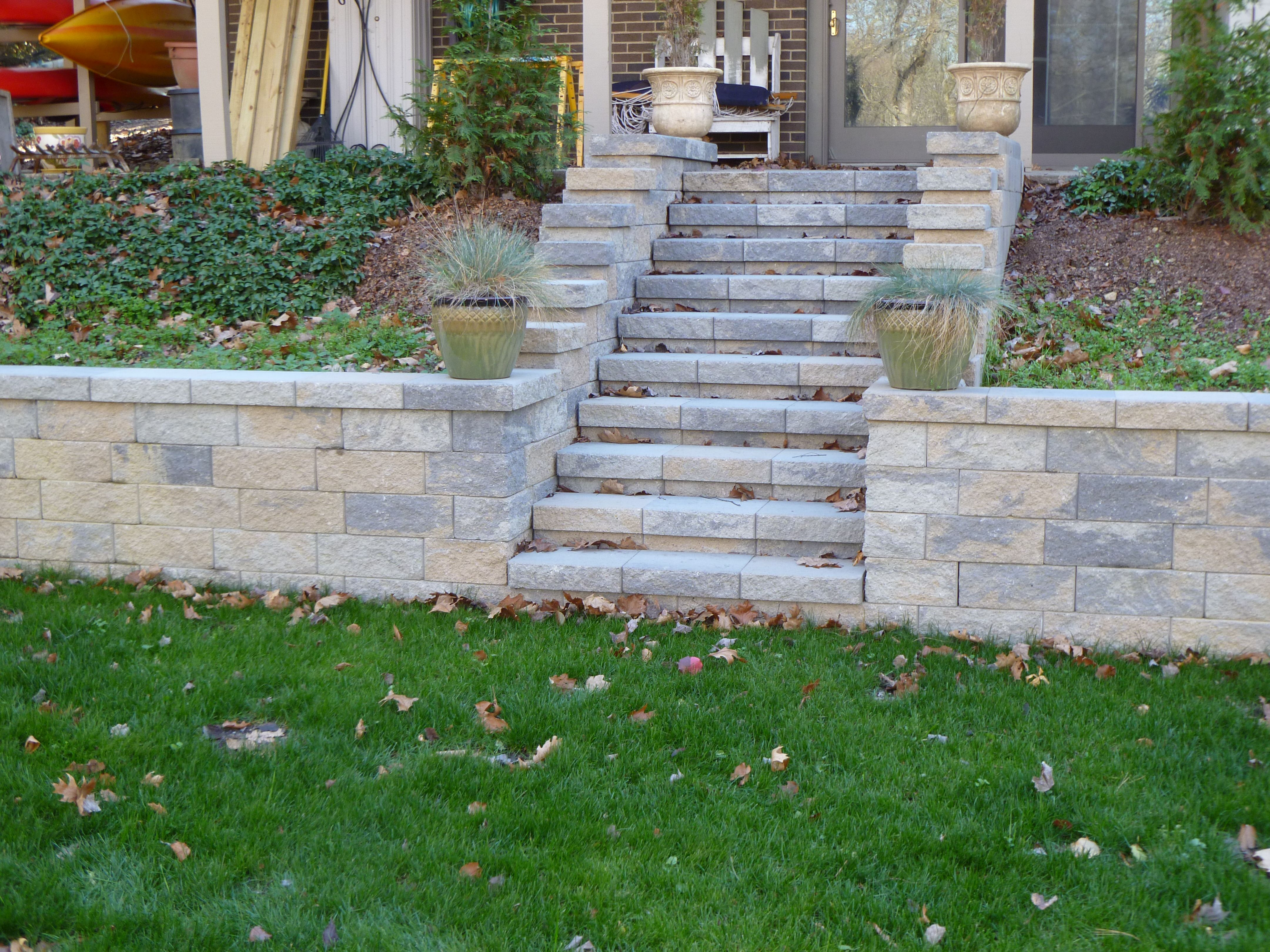Versa Lok Steps And Retaining Wall Retaining Wall Outdoor Spaces Outdoor