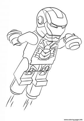 Print lego iron man coloring pages | Spring break day camp ...