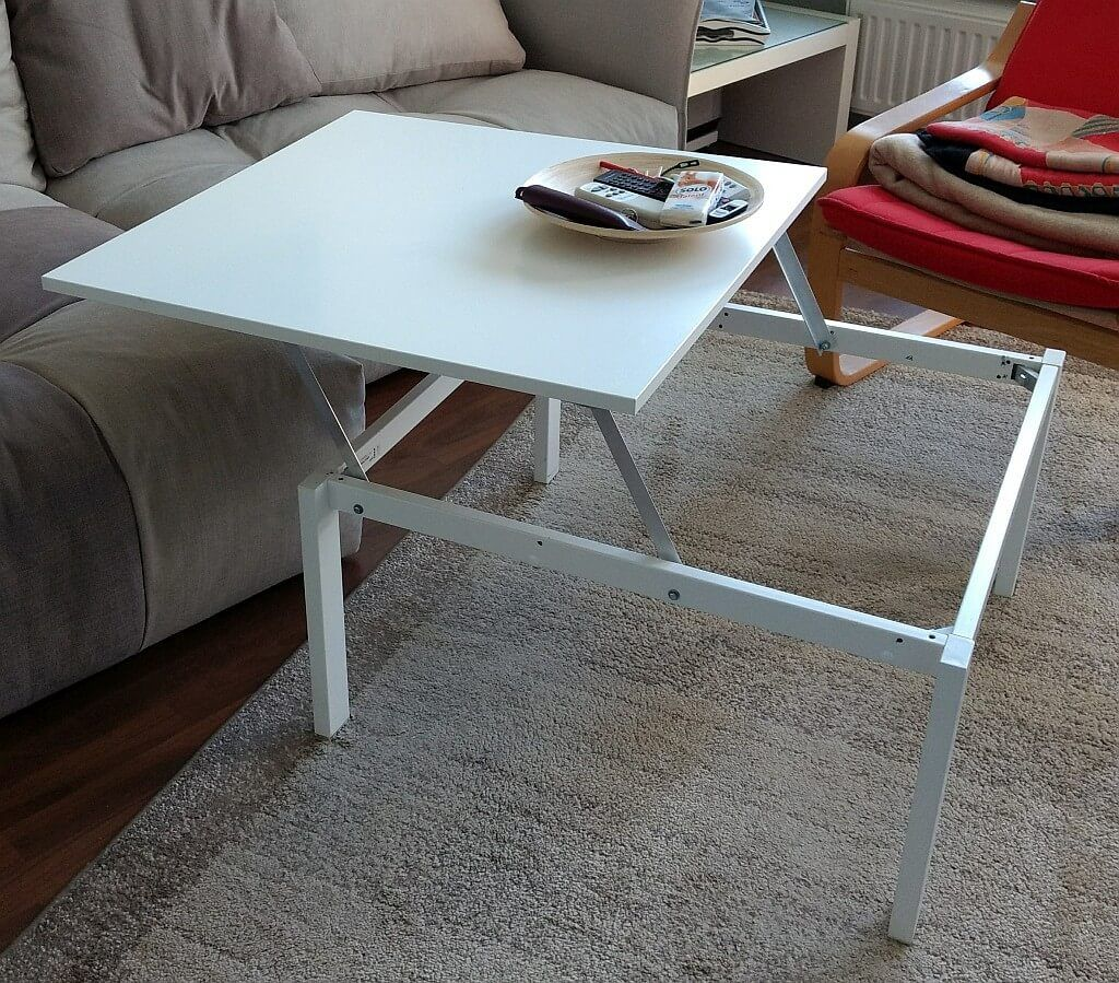 Transform Your Tv Dinners With This Uplifting Hack Coffee Table Steel Frame Coffee Table Hacks Coffee Table