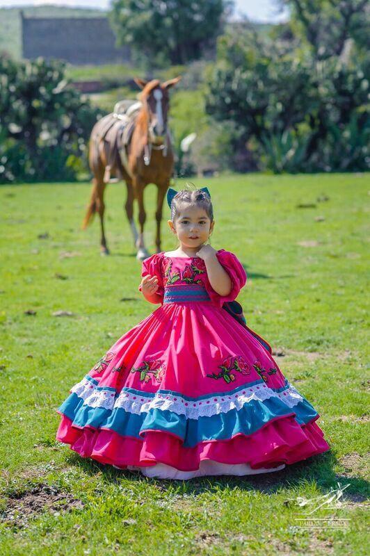 Vestido Niña Para Fiesta Mexicana Vestido Mexicano Vestido