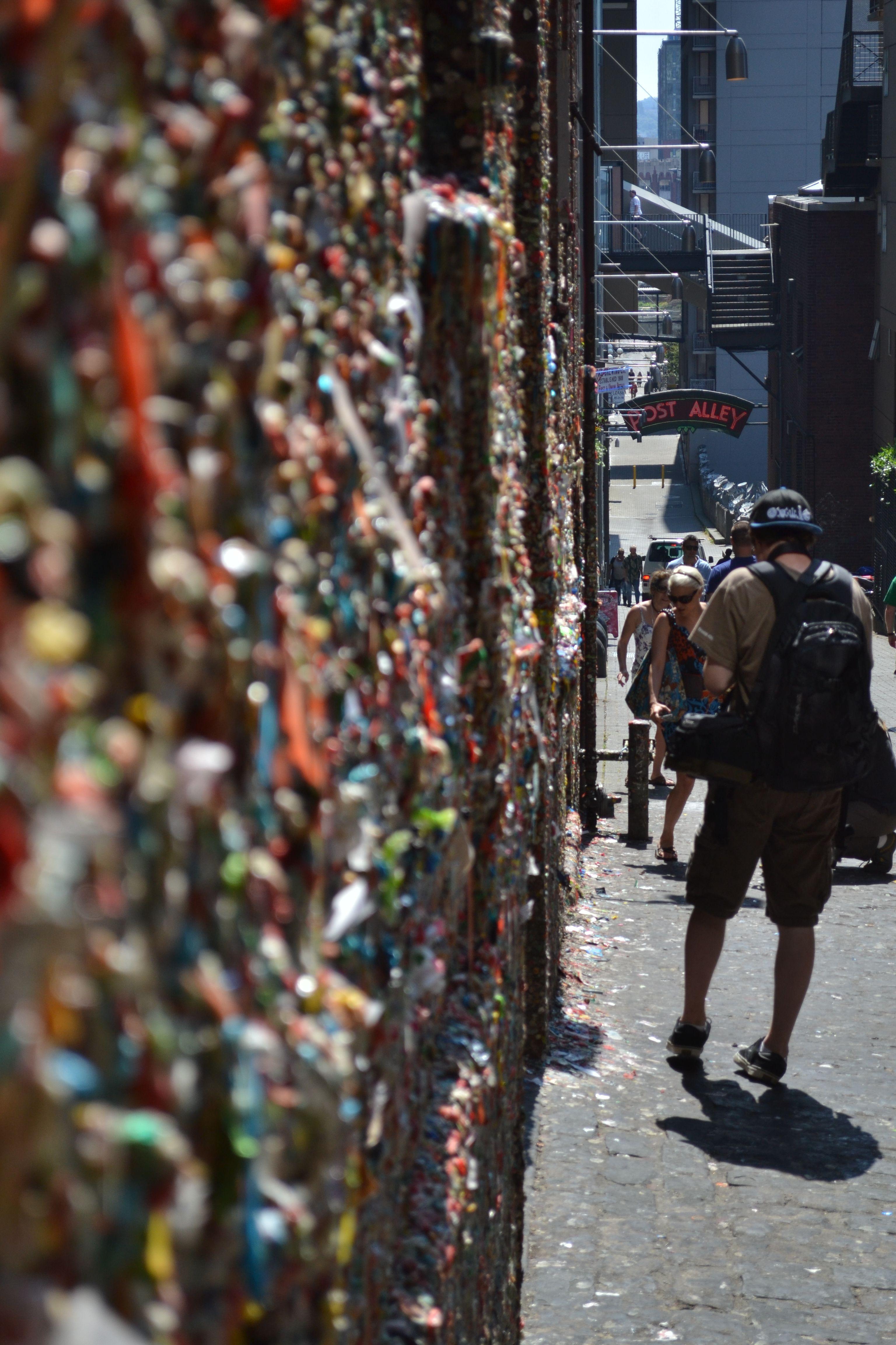 """gum wall"" in Post Alley, Seattle, WA"