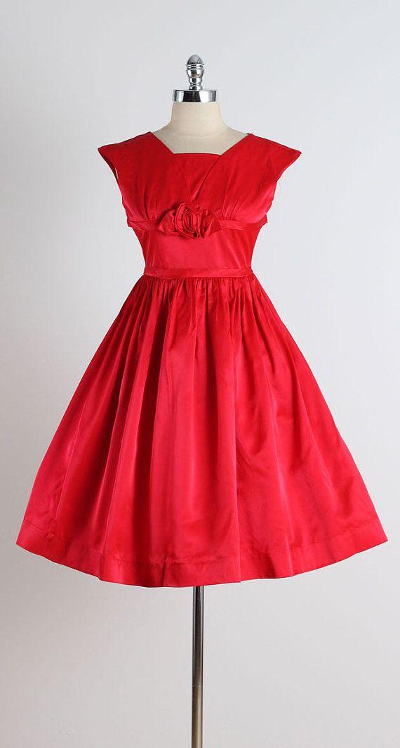 Maraschino Cordial . vintage 1950s dress . by millstreetvintage
