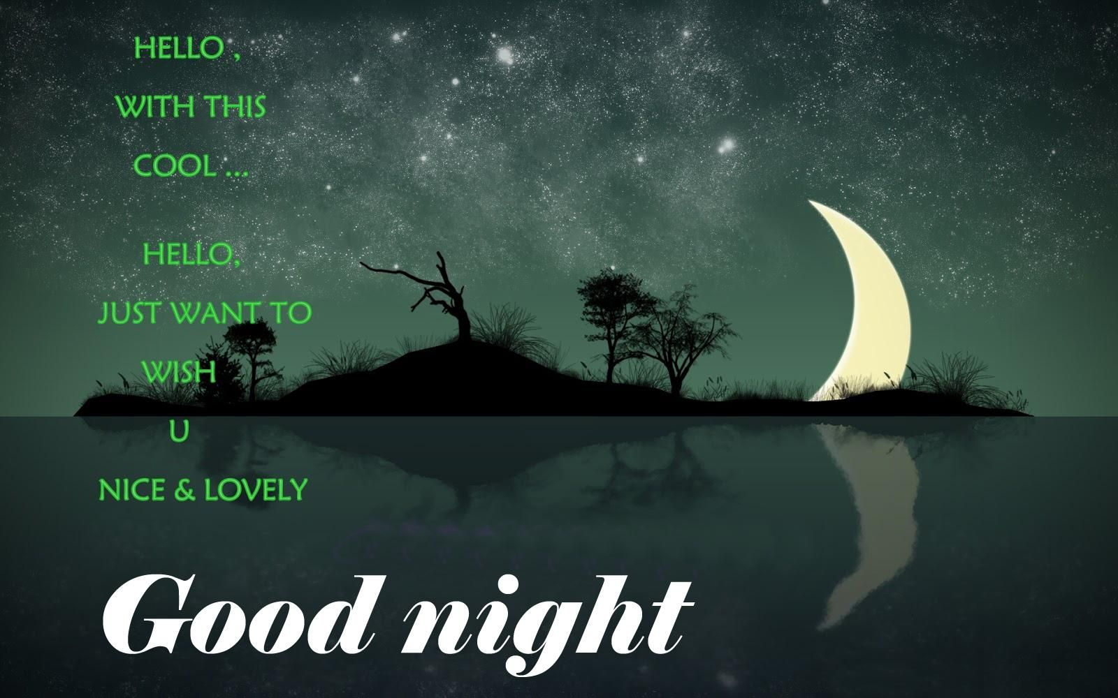 free good night sms for friends images pictures