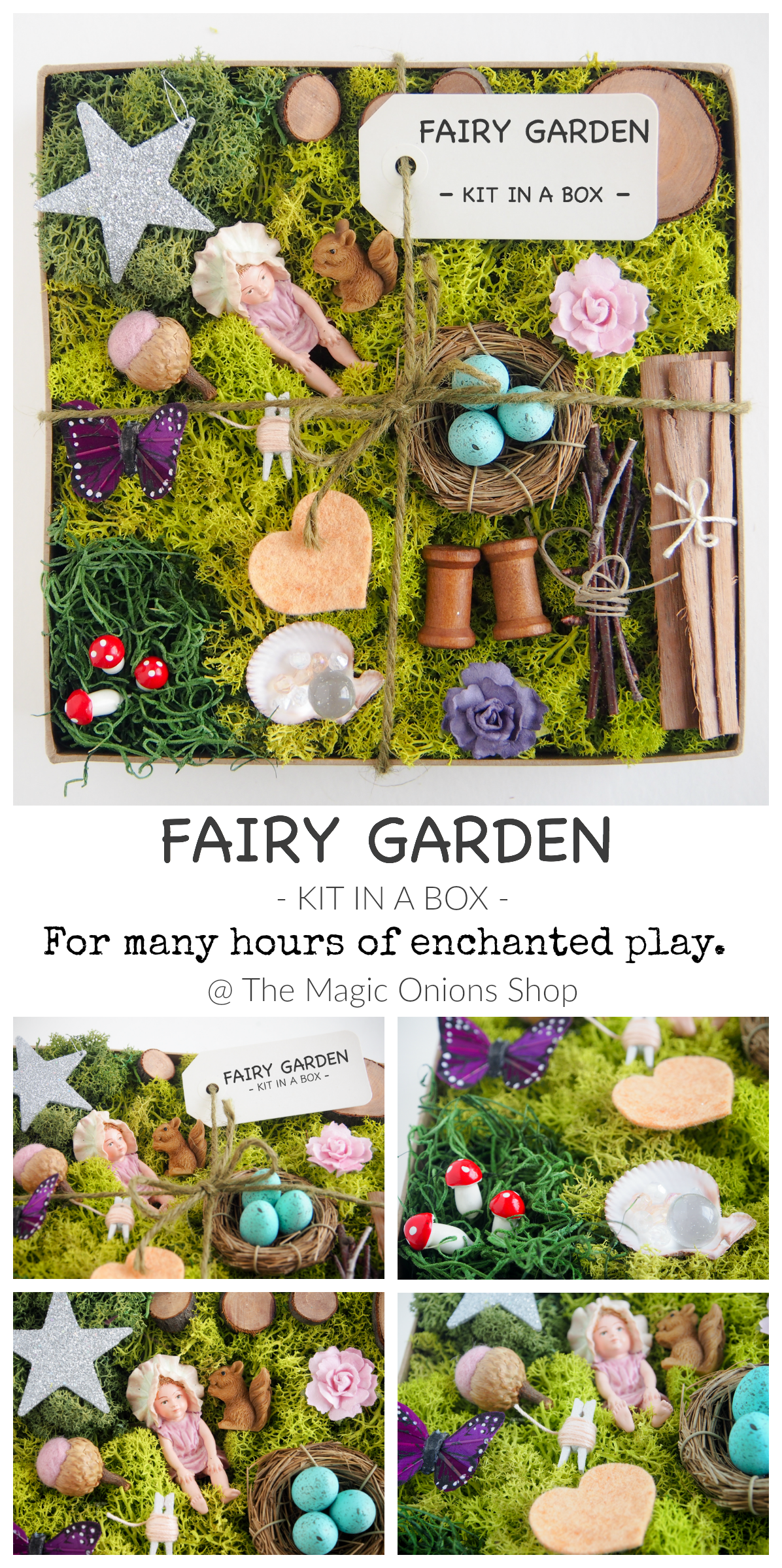 Good Make The Most Enchanting Fairy Gardens With This FAIRY GARDEN DIY KIT IN A  BOX From