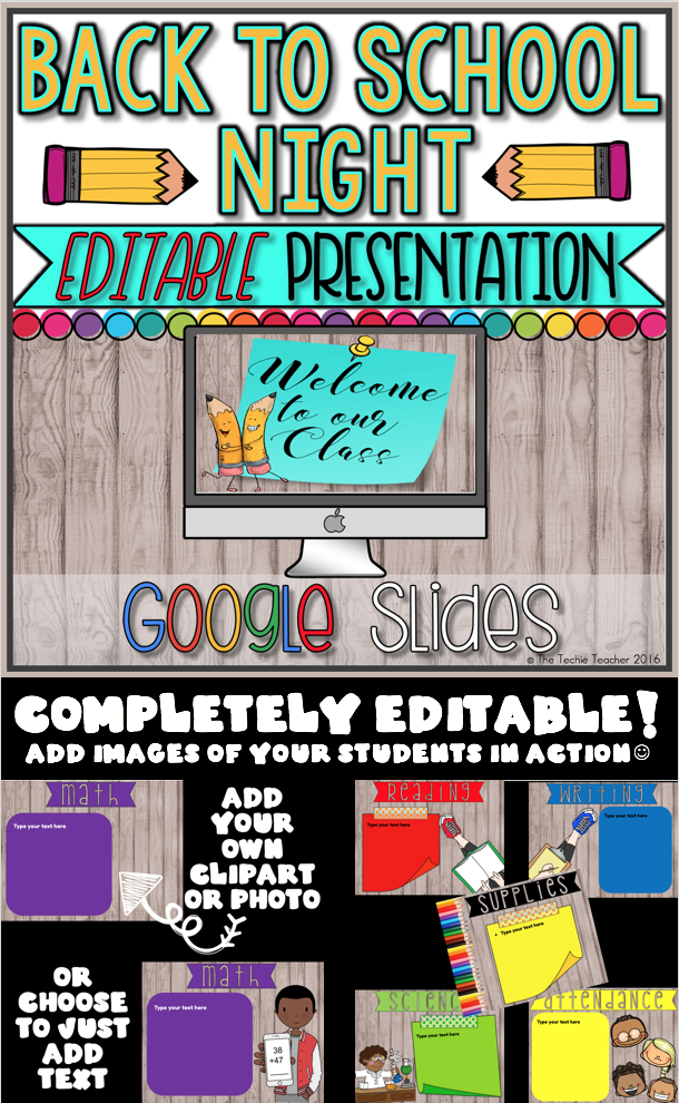 Back to School Night Editable Presentation in Google