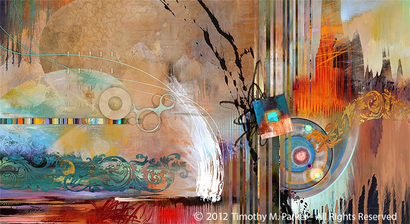 Abstract Modern Painting Ornamental Song- Artist Tim Parker