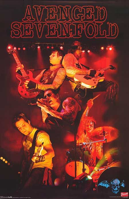 Avenged Sevenfold Live Poster With Images Avenged Sevenfold