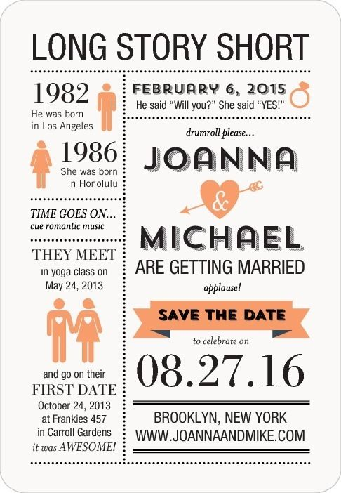 Do this but as an invitation instead of a save the date Wedding