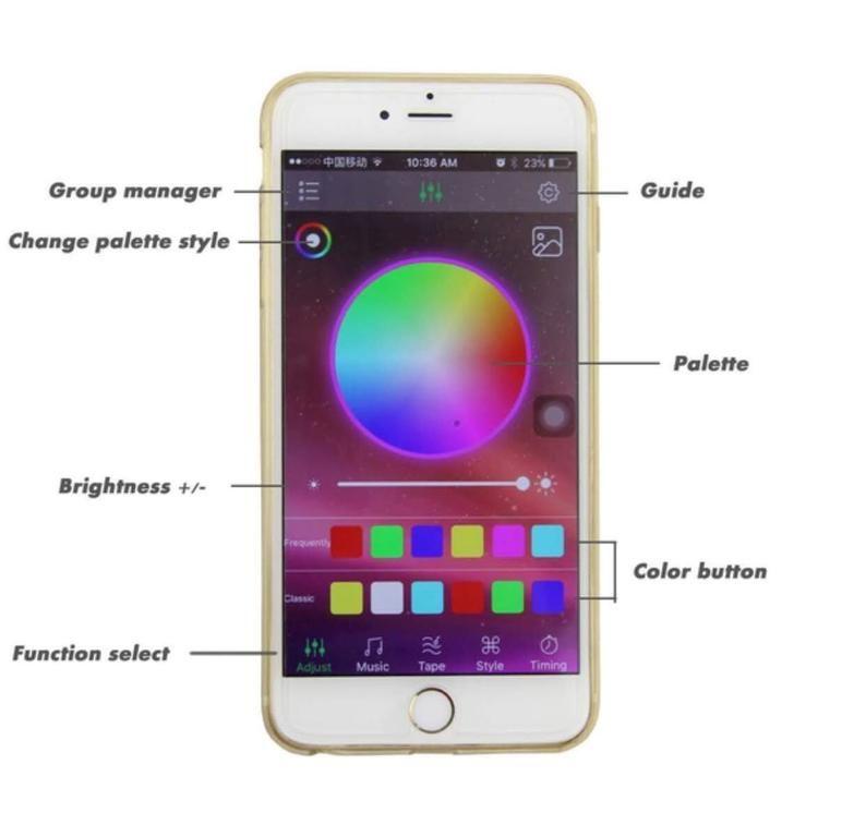 Bluetooth controlled led lights for roller skates led