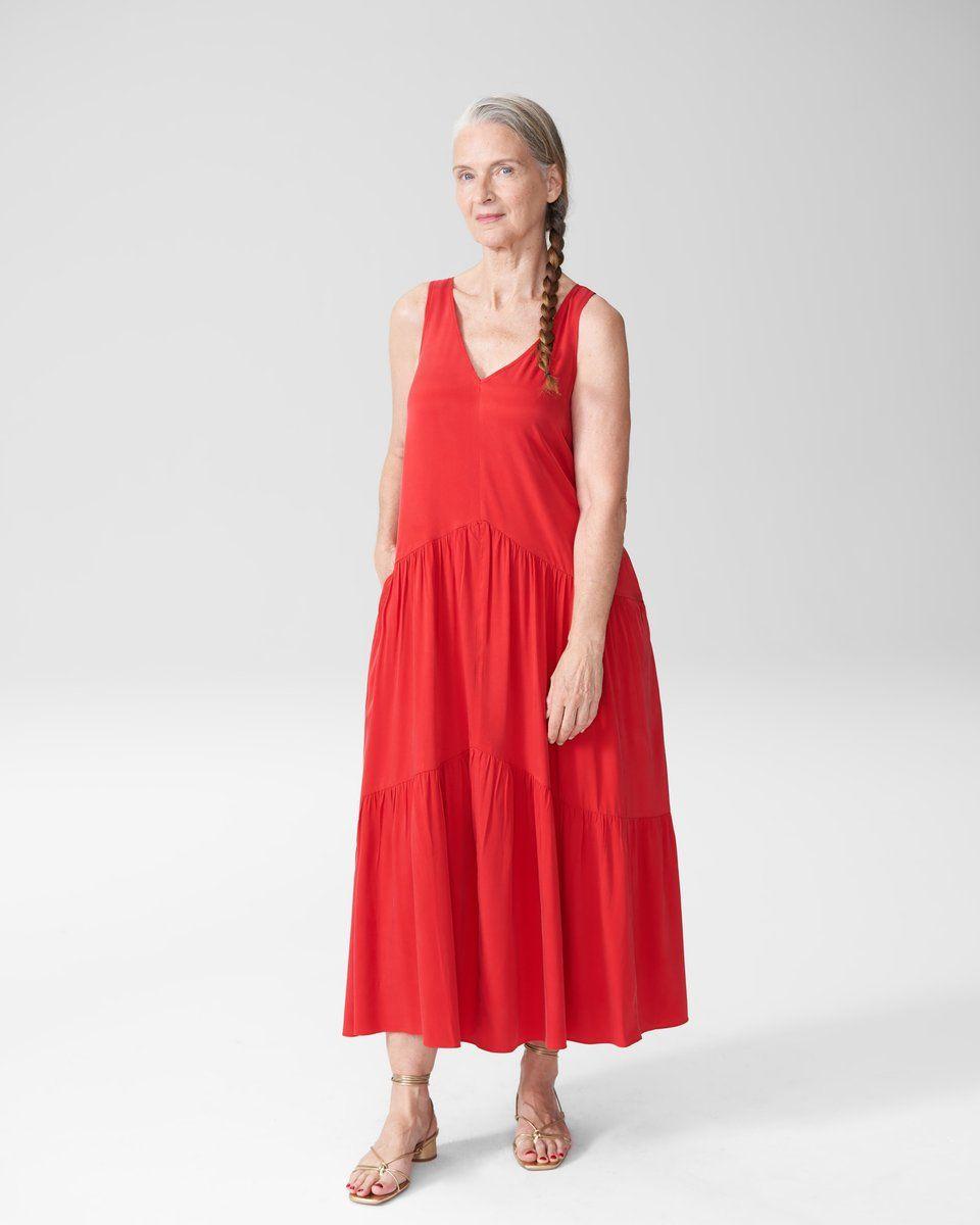 Emily Cupro Maxi Dress Red Elegant Maxi Dress Dresses Dress Up