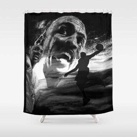 Michael Jordan Shower Curtain By Artito