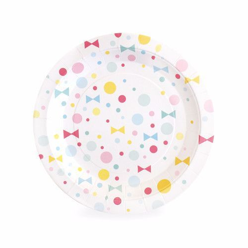 Polka Dots and Bows | Dessert Paper Plates