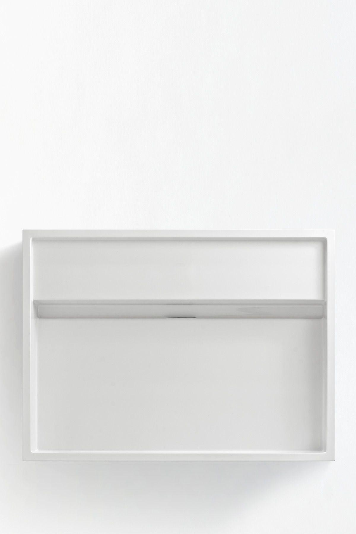 Burgbad uomo minimalistisches eckiges waschbecken aus for Eckiges waschbecken