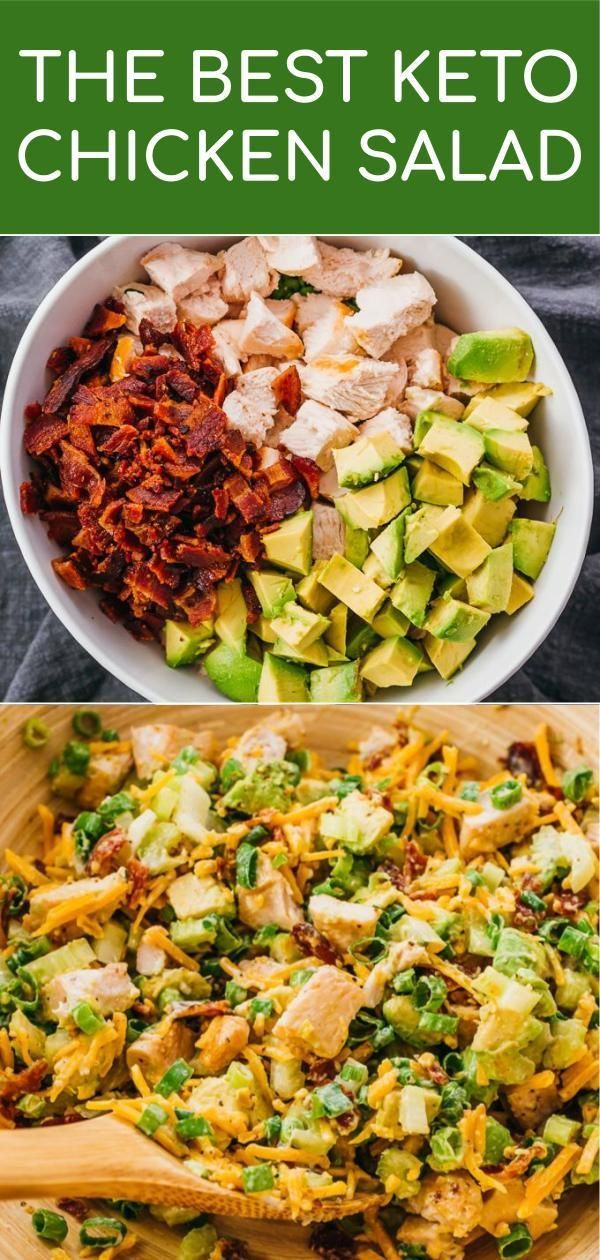 Keto Chicken Salad With Bacon, Avocado, & Caesar Dressing – Savory Tooth – Kaley Franklin Blogs