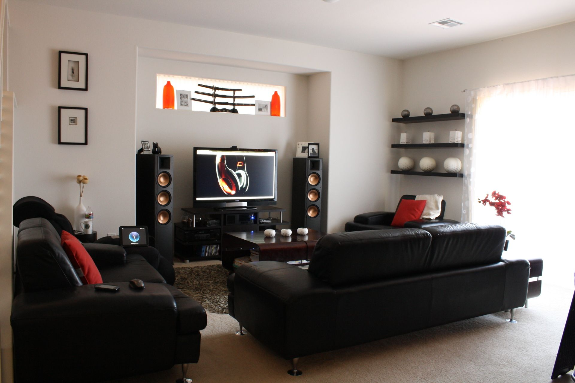 Home Theater Living Room Setup | Home Theater and Gaming | Pinterest ...