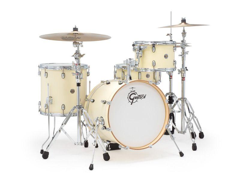Gretsch Catalina Club Jazz Kit In Satin White Chocolate Finish