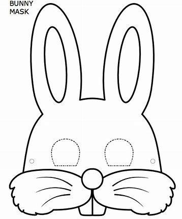 Image result for rabbit Face Mask Template animal masks