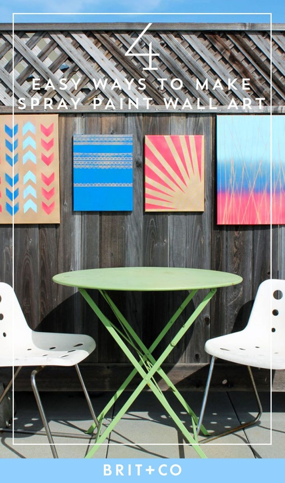 Home Is Where the Art Is: 4 Simple Ways to Make Spray Paint Wall Art #spraypainting