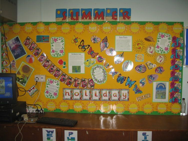 summer display classroom display class display seasons holiday sun strawberries beach. Black Bedroom Furniture Sets. Home Design Ideas