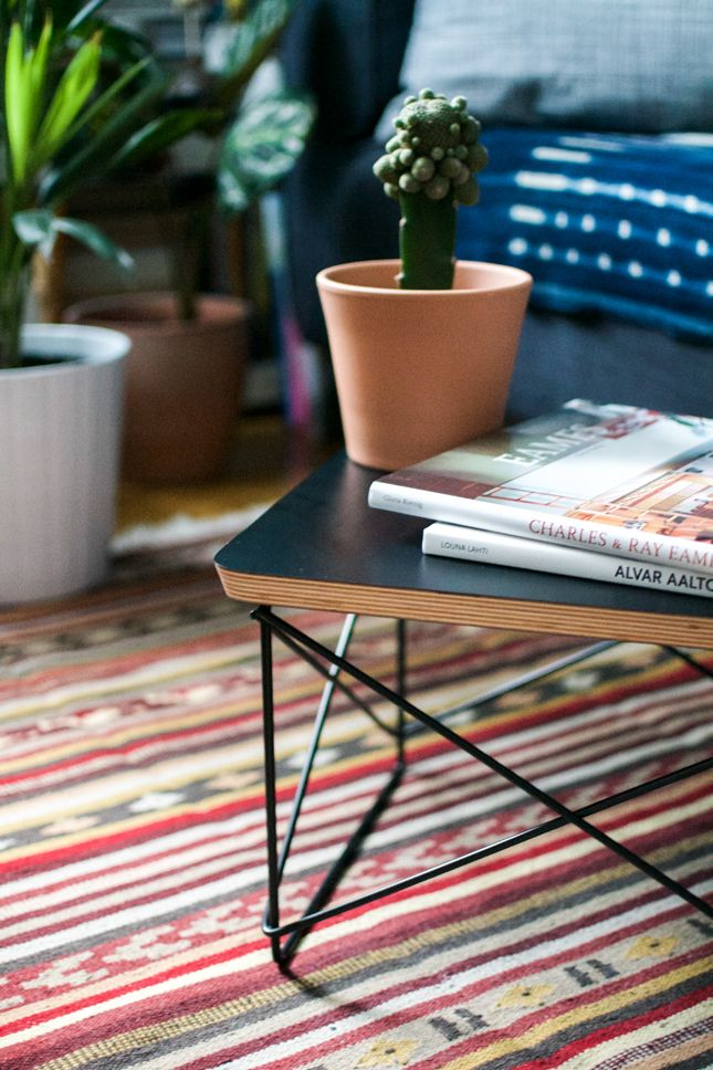 Gentil The Small, Versatile Eames Occasional Table Comes Now In An All Black  Version By