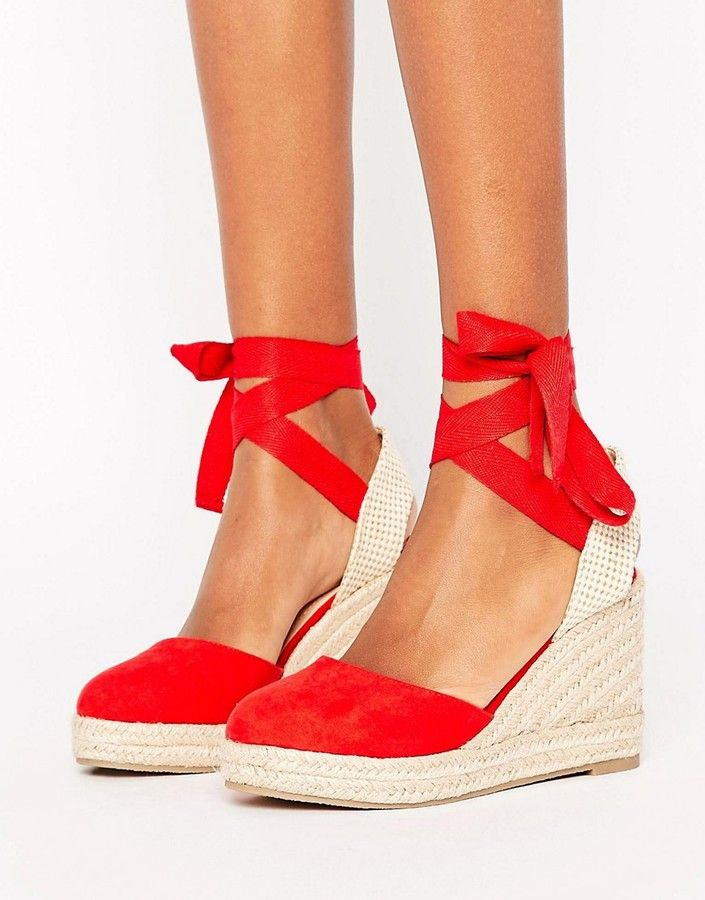 Pimkie Espadrille Lace Up Wedge Sandal